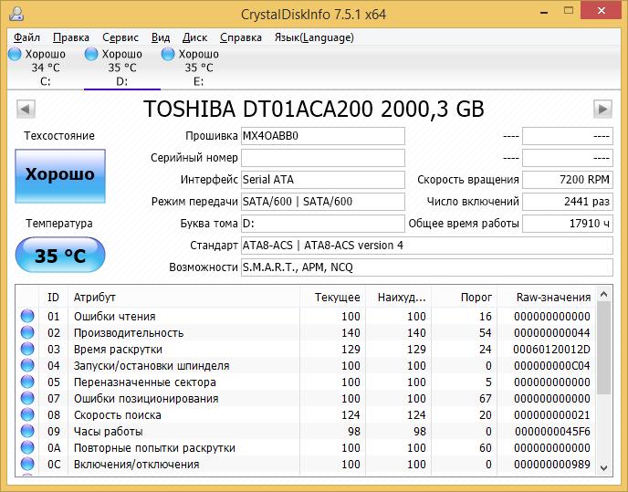 CrystalDiskInfo скачать на русском последнюю версию