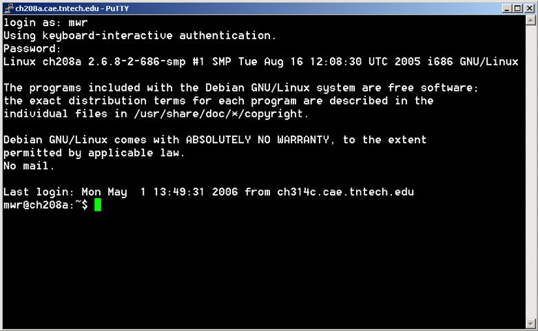 PuTTY входит в состав Linux